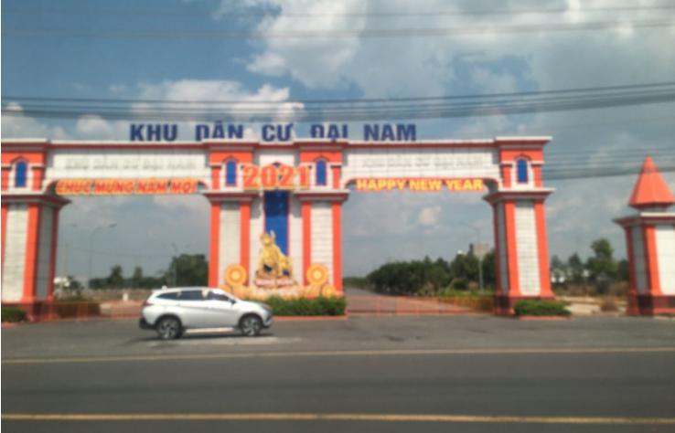 cổng khu dân Khu dân cư Đại Nam