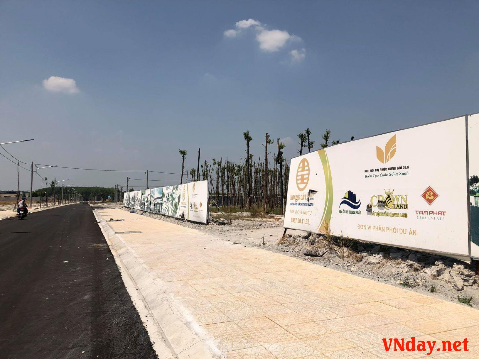 Dự án KĐT Phúc Hưng Golden do Cty Đất Xanh Bình Phước làm chủ đầu tư